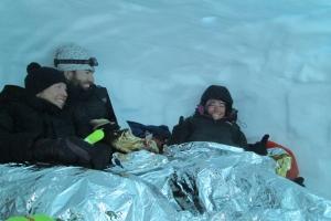 Bivakkeren in een sneeuwhol?