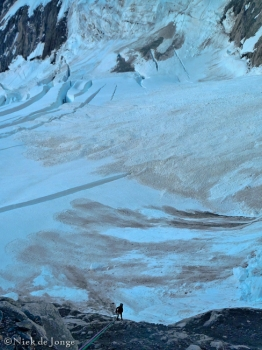 04 - Abseilen richting de Brenva gletsjer vanaf Col Moore