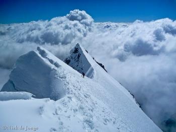 21 - de graat richting top Mt Blanc de Courmayeur