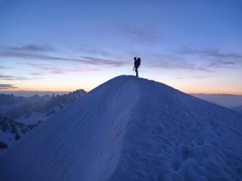 27 - Niels op de top vd Aig. Blanche